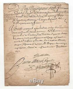Gaston D'orleans / Signed Letter (1652) / In Favor Mr. Corberon / Richelieu