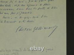 Gaston Gallimard Letter Autograph Signee A Paul Eluard Anthology Poet 1951