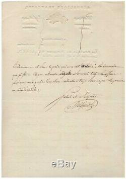 General Belliard / Signed Letter (1802) / Brussels / Villas Of Officers