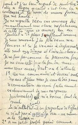 Georges Rouault / Long Autograph Letter Signed In The Throes Of Creation