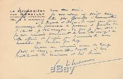 Georges Simenon Signed Autograph Letter