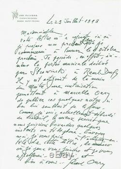 Gerard Oury / Autograph Letter Signed About His Latest Film