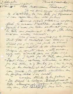 Gérard Schneider Swiss Painter Autograph Letter Signed Galerie Ex-libris Prize