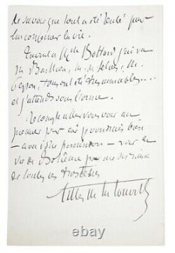 Gilles Of The Tourette Autograph Letter Signed Mort Daudet Manuscrit 1897