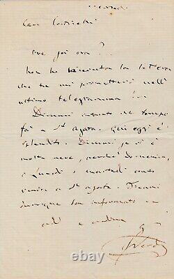 Giuseppe Verdi Autograph Letter Signed