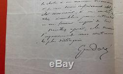 Gustave Dore Autograph Letter Signed