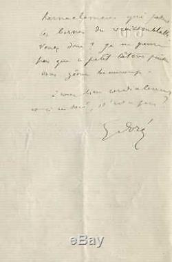 Gustave Dore Autograph Letter Signed To Lucien De Montagnac