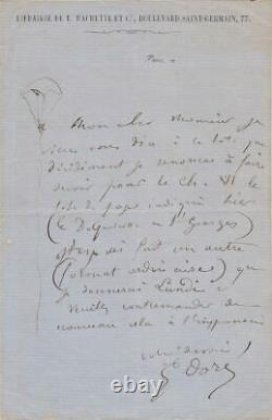 Gustave Doré Autographed Letter Signed & Illustrated Rare
