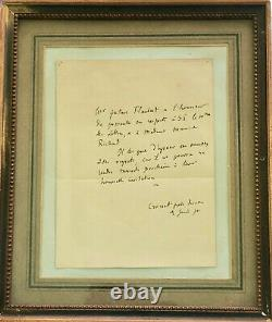 Gustave Flaubert Signed Autograph Letter To The Minister Of Letters (1870)