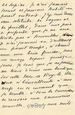 Guy De Maupassant / Autograph Letter Signed / 12 Pages! His Trip To Italy
