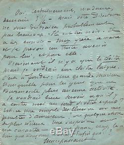 Guy De Maupassant / Signed Autograph Letter