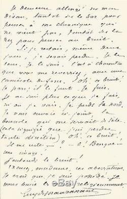 Guy De Maupassant / Signed Autograph Letter / I Believe I Am Possessed