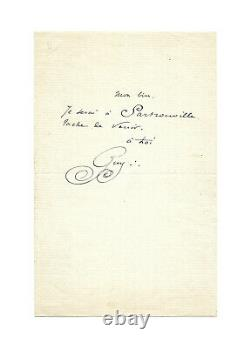 Guy From Maupassant / Autograph Letter Signed / Rendezvous / Ticket / Canoeing