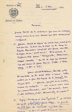 H. Guillemin Lamartine Autograph Letter Signed January Daniel-rops Social Party