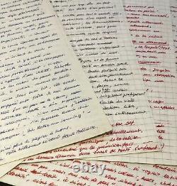 Hans Bellmer 20 Autograph Letters Signed To Dr. Ferdière. 40 Handwritten Pages