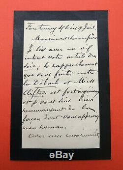 Hector Malot Autograph Letter Signed Zola