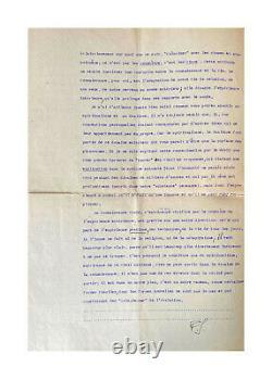 Henri Bergson / Autograph Letter Signed / Rendezvous / Philosophy / Years 20