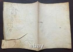 Henri III King Of France Document / Letter Signed Marc Miron Normandie 1587