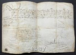 Henri III King Of France Document / Letter Signed Private Council Of The King 1576