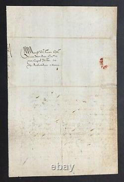 Henri III King Of France Letter Signed Accreditation To The Pope 1585