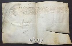 Henri IV King Of France Document / Letter Signed 1594