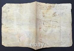 Henri IV King Of France Document / Letter Signed Headquarters Of Paris 1592