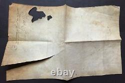Henri IV King Of France Document / Letter Signed Parliament Of Paris 1594