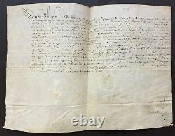Henri IV King Of France Document / Signed Letter About Connétable Et Guise 1598
