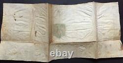 Henri IV King Of France Letter Signed With Coat Of Arms Letter Of Warning 1593