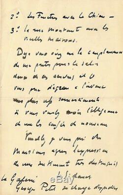 Henri Le Sidaner / Autograph Letter Signed / Her Exhibition In London In 1905