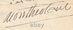 Henry De Montherlant, Writer, Autograph Letter Signed