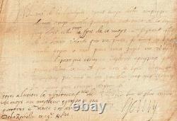 Henry IV King Letter Signee Catherine De Medicis