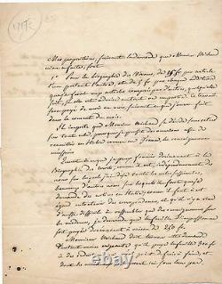 History Religion Abbé Guillon Autograph Letter Signed To Michaud Biography