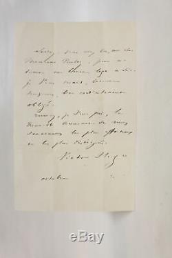 Hugo Autograph Letter Signed In 1847 François Buloz Manuscript Autograph