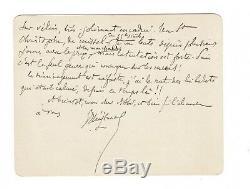 Huysmans / Letter Autograph Signed To Abbe Mugnier / Missel