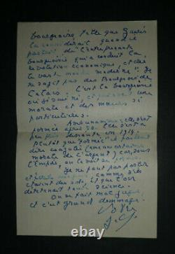 Jacques Chardonne Tres Belle Letter Autograph Signee A Roger Nimier From 4 Pages