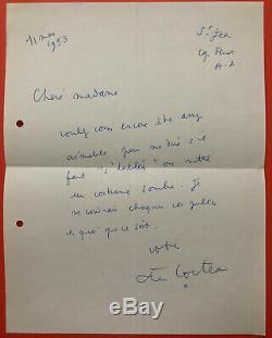 Jean Cocteau Autograph Letter Signed