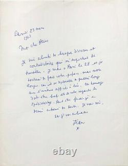 Jean Cocteau Signed Autograph Letter