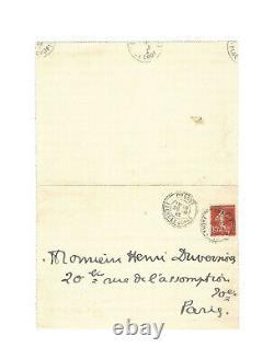 Jean Cocteau / Signed Youth Autograph Letter / Roman / 1913 / Poetry