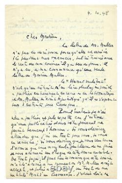Jean Giono / Autograph Letter Signed / The Hussard On The Roof / Grasset Edition