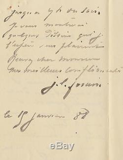 Jean Louis Forain Autograph Letter Signed To A Gentleman. 1888