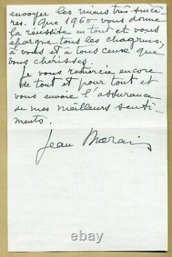 Jean Marais (1913-1998) Superb Autograph Letter Signed In 1960 4 Pages