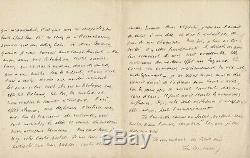 Jean Psichari Autograph Letter Signed Anatole France Suzanne Henri Mollin