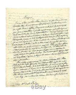 Jean-baptiste Berton / Autograhe Letter Signed / Napoleon Sainte Helene / 1820