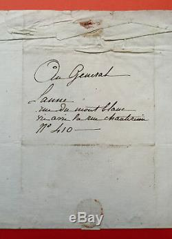 Jean-baptiste Isabey Autograph Letter Signed In Future Marshal Lannes