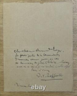 Jean-françois Raffaëlli Autograph Letter 1894