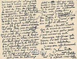 Jehan Rictus Autograph Letter Signed In Corsican Poet Vecchini Popular Heart