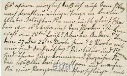 Johannes Brahms Autograph Letter Signed January 1875 Libeslieder Walzer Breslau