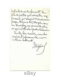 Joris-karl Huysmans / Autograph Letter Signed / Flaubert / Wagner / Goncourt