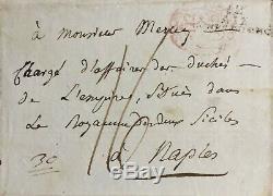Joseph Fouche Autograph Signed Autograph Letter Signed Duc D'otrante